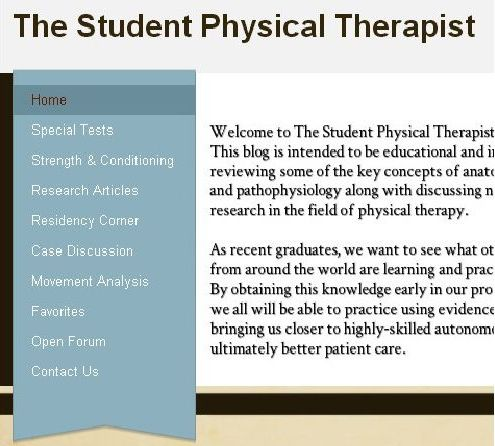 The Student Physical Therapist